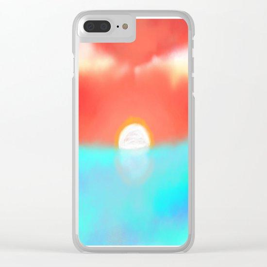 Blazing Sun Clear iPhone Case