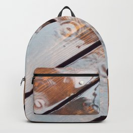 It's Raining! Beautiful Abstract Photography of Rain Falling on Redwood Deck Backpack