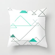 Tree Angle Green Throw Pillow