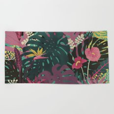 Tropical Tendencies Beach Towel