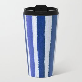 Blue Stripe Travel Mug