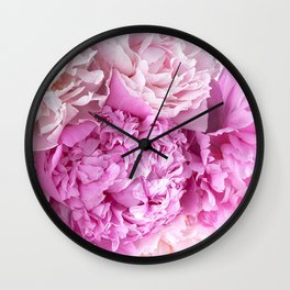 Pink Peonies Shabby Chic Cottage Peonies Wall Clock