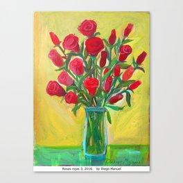 Rosas rojas 3 by Diego Manuel Canvas Print