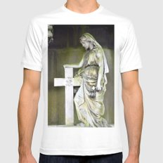 Green angel Mens Fitted Tee White MEDIUM