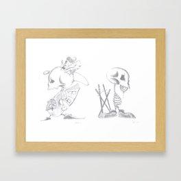Imaginations end Framed Art Print