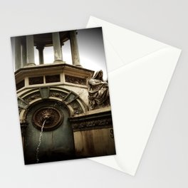zoo fountain Stationery Cards