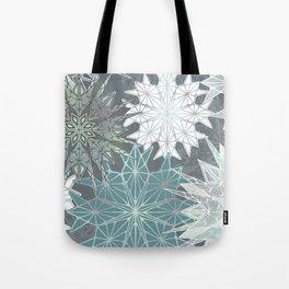 Holiday Snowflakes Tote Bag