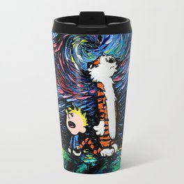 calvin hobbes Travel Mug