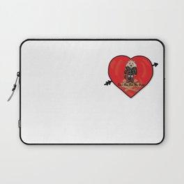 Don't Run Over My Heart Laptop Sleeve