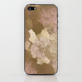 Pink Floral Hues iPhone Skin