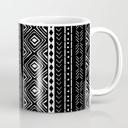 Black Mudcloth Coffee Mug