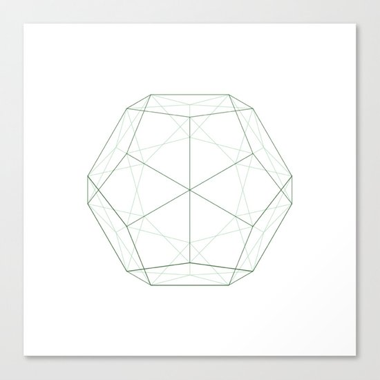 #354 Dodecahedron – Geometry Daily Canvas Print