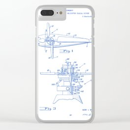 Variable Pitch Control of Helicopter Rotors Vintage Patent Hand Drawing Clear iPhone Case