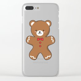 Ginger-Bear Cookie Clear iPhone Case