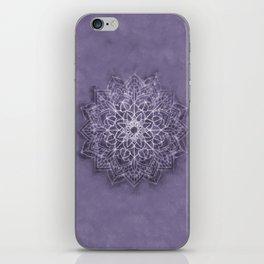 Vintage Lavender Watercolor Mandala iPhone Skin
