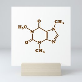 Caffeine Molecular Chemical Formula Mini Art Print