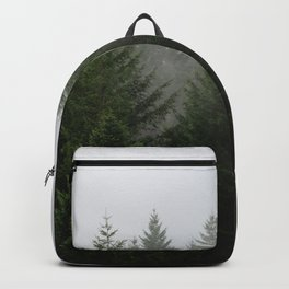 Foggy Trees Pacific Northwest Backpack