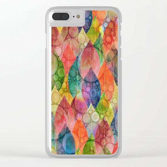 Autumn Rain 3 Clear iPhone Case