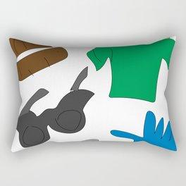 He Loves Fashion (Jeremiah) Rectangular Pillow