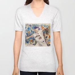 Justin Verlander - Astros Pitcher Unisex V-Neck