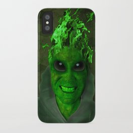 GREEN PLANET ALIEN (Us And Them) iPhone Case