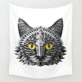 Ornate Black Cat Wall Tapestry