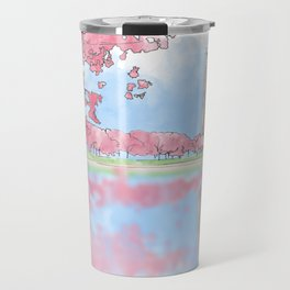 Cherry Blossom - Washington Monument Travel Mug