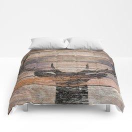 Rustic Black Deer Silhouette A311 Comforters