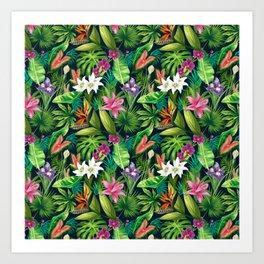 Tropical Lush Sanctuary, A Bohemian Paradise Art Print
