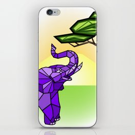 Stained Glass Elephant iPhone Skin