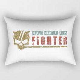 Mixed Martial Arts With Grunge Skull Rectangular Pillow