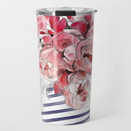 Back from the flower market - Peonies bouquet illustration Travel Mug
