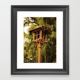 Wooden Lamp Framed Art Print