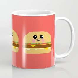 Happy Pixel Hamburger Coffee Mug