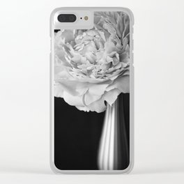 Portrait of a Peony Clear iPhone Case