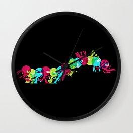 ninja moves (black) Wall Clock