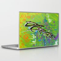 "namaste Laptop & iPad Skins featuring ""NAMASTE"" by Sababa Surf"