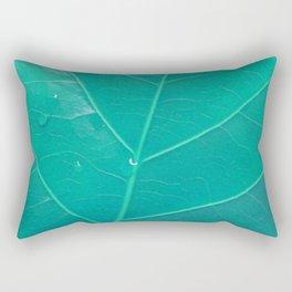 Leaf in Aqua Rectangular Pillow
