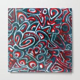 Jack Teal/Red Metal Print