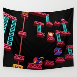 Inside Donkey Kong stage 3 Wall Tapestry