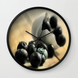Extravagant Wild Berries  Wall Clock