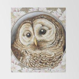 Barred Owl baby Throw Blanket
