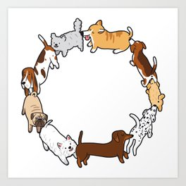 Social Circle Art Print
