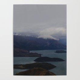 Mountain Series  Lake Wanaka Aerial Poster