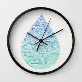Water Drop – Blue Ombré Wall Clock