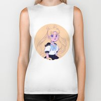 sailor moon Biker Tanks featuring Sailor Moon by Natali Koromoto