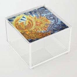 Chinese Phoenix and Dragon Mandala Acrylic Box
