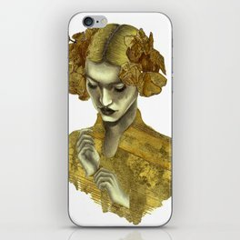 Gold Leaf Babe I iPhone Skin