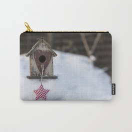 Let it snow Birdhouse and Christmas star Carry-All Pouch