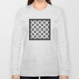 Victorian Floor Tile Pattern 3 Long Sleeve T-shirt